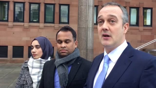 solicitor warren maxwell reads a statement outside newcastle crown court on behalf of syeda and abdul rajib whose son zaryab was badly hurt by a... - kabah stock videos and b-roll footage