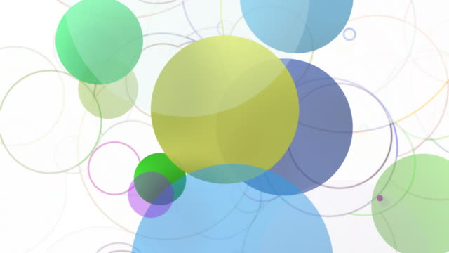 Solid and outline spheres Background