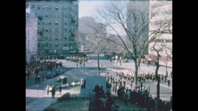 of soliders and other dignitaries marching to cathedral of st. matthew the apostle for the funeral service of john f. kennedy. - apostle stock videos & royalty-free footage