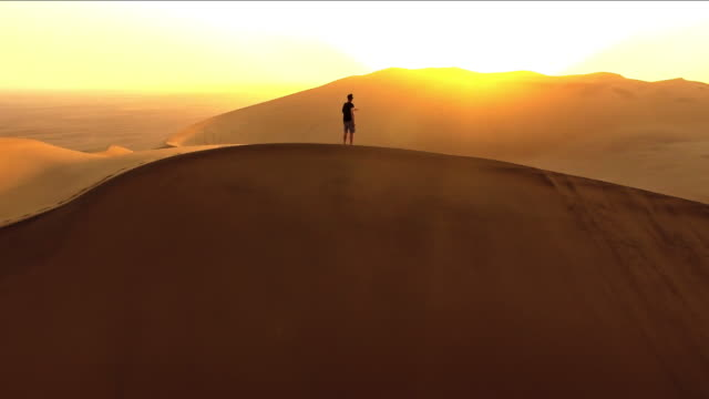 solitude at dawn in the desert - namibian desert stock videos and b-roll footage