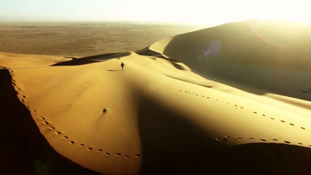 solitude in the desert sands - arid climate stock videos & royalty-free footage