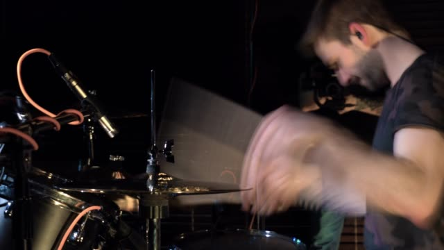 solo drummer in motion performance - solo performance stock videos and b-roll footage