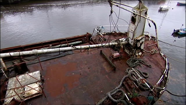 inquest accidental death verdict richard gidney arriving at court recovered wreck of solway harvester in harbour victims' families leaving court... - solway harvester stock videos and b-roll footage