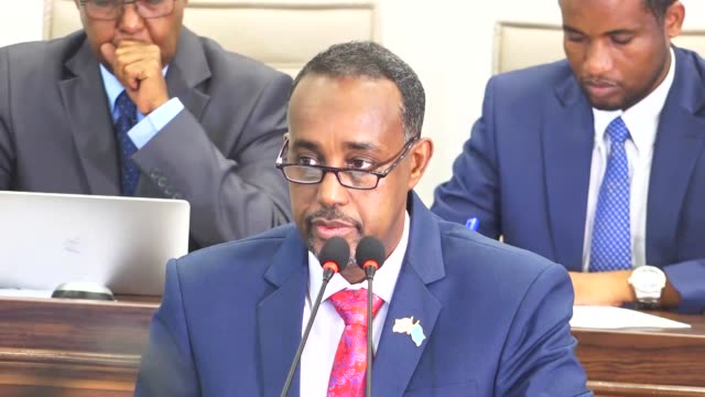 somali lawmakers approved mohamed hussein roble as the country's new prime minister in a landslide vote on september 23, 2020. all 215 members of... - horn of africa stock videos & royalty-free footage