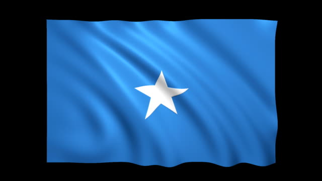 somalia flag loopable matte included - stock video - flag stock videos & royalty-free footage