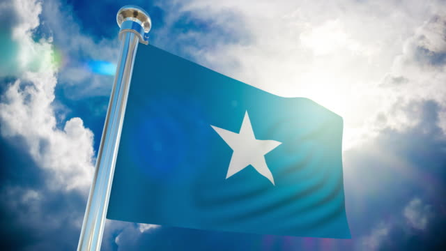 4k somalia flag - loopable stock video - country geographic area stock videos & royalty-free footage
