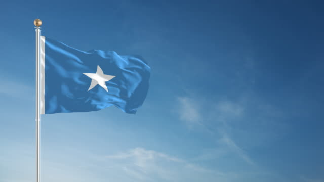 4K Somalia Flag - Loopable