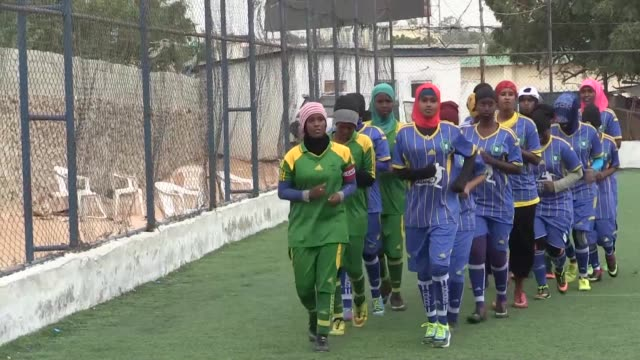 Somalia's first female soccer club the Golden Girls Centre in Mogadishu aims to kick down taboos and help train women to become professional...