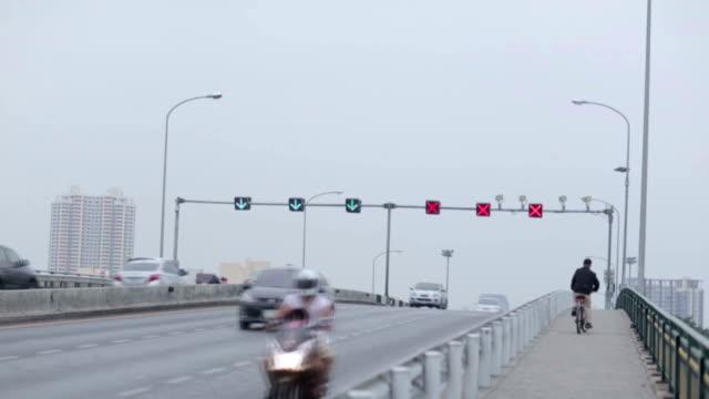 somdet phra pinklao bridge traffic - musical instrument bridge stock videos & royalty-free footage