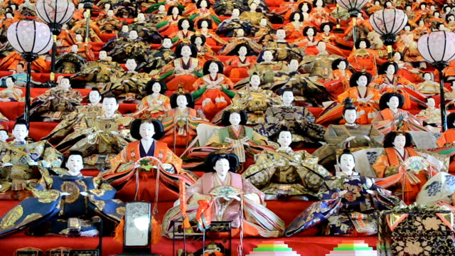 "Some 1200 ""hina"" dolls which form a magnificent sight at a temple almost didn't make it as they were earmarked for ""cremation rituals"" before priests..."
