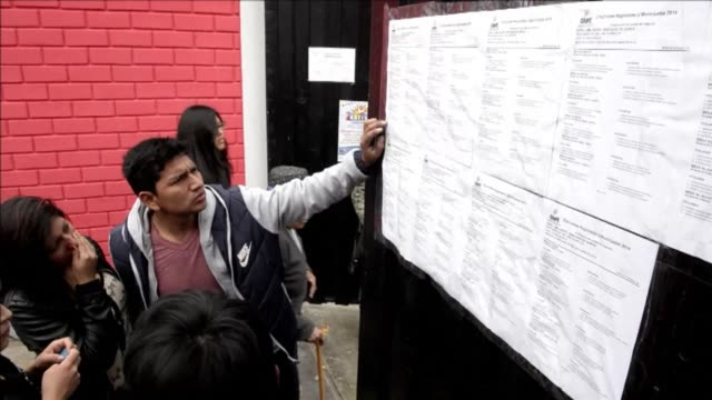 some 21 million peruvians are voting sunday in regional and municipal elections with many candidates accused of corruption drug trafficking ties and... - peruvian ethnicity stock videos & royalty-free footage