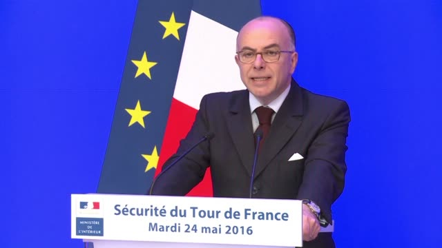 some 23000 police will be deployed for the tour de france interior minister bernard cazeneuve said tuesday as the worlds premier cycling race takes... - bernard cazeneuve stock videos & royalty-free footage