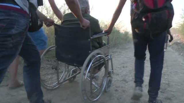 some 250000 people have lost limbs in syrias savage fouryear conflict but even in wheelchairs and on crutches people are braving the especially... - northern europe stock videos & royalty-free footage