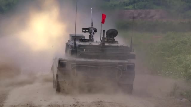 some 300 japanese and us military personnel carry out live fire artillery training in northern japan officials say amid high regional tensions over... - fire drill stock videos & royalty-free footage