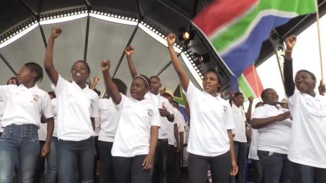Some 30000 people gathered in a small village in northern South Africa Sunday for a ceremony for the beatification of a school teacher who was...