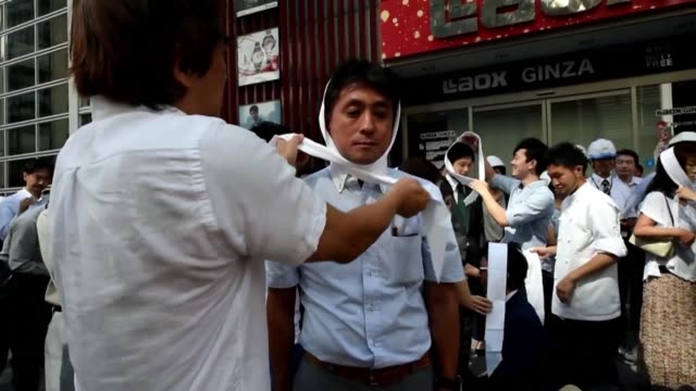 some 4,000 people working and living in the chuo ward district in tokyo take part in a possible massive earthquake drill ahead of disaster prevention... - earthquake stock videos & royalty-free footage