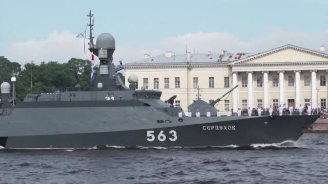 Some 50 warships and submarines go on show in Saint Petersburg after President Vladimir Putin orders the navy to hold its first ever parade on such a...