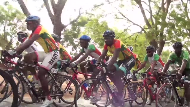 Some 80 cyclists from twelve nationalities take off for the 26th Tour of Togo a 1285 long kilometre race through the small country in West Africa