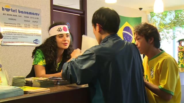 some japanese fans have travelled for 30 hours to recife in the north east of brasil to cheer for their team - recife stock videos and b-roll footage