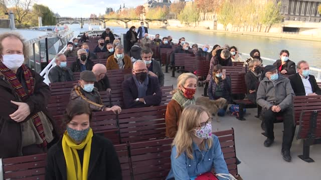 some of the biggest names in modern-day french literature boarded a riverboat on the seine on thursday to call on the government to protect the... - literature stock videos & royalty-free footage