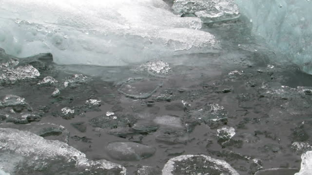 some pack ice in the water. - inlet stock videos & royalty-free footage