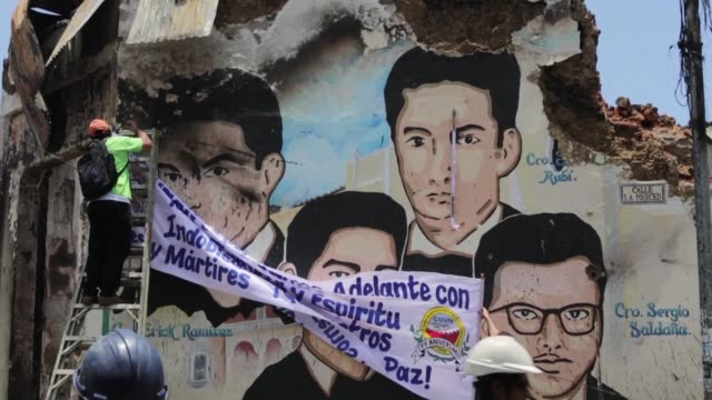 some people in leon a northern city that is a bastion of support for nicaragua's ruling sandinista party want president daniel ortega to put an end... - nicaragua stock videos & royalty-free footage