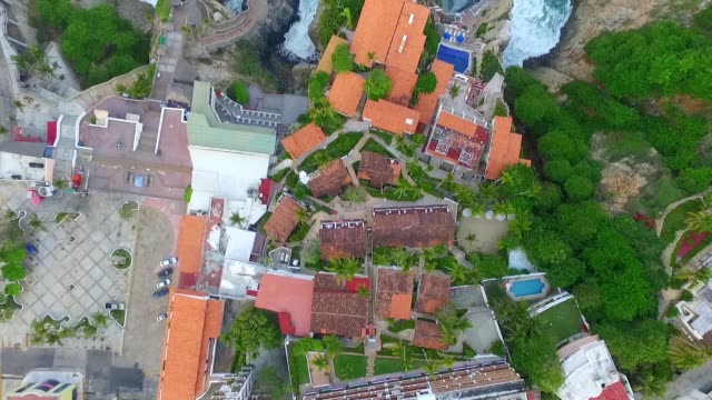 Some roofs of houses and hotels in Acapulco Mexico