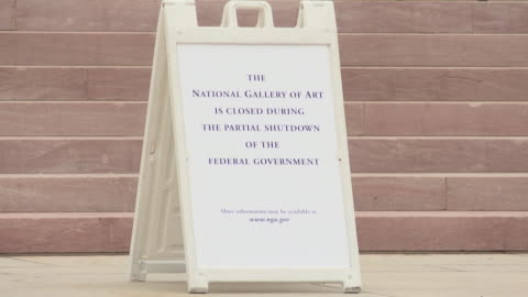 some smithsonian museums on washington's national mall are closed amid a partial us government shutdown. the national museum of american art is... - smithsonian institution stock videos & royalty-free footage