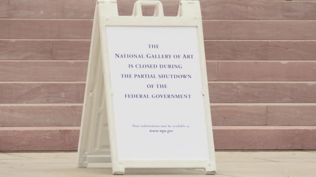 some smithsonian museums on washington's national mall are closed amid a partial us government shutdown the national museum of american art is... - smithsonian institution stock videos & royalty-free footage