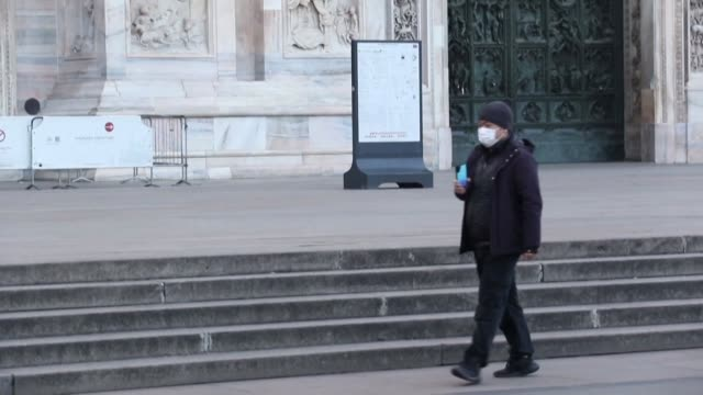some tourist hotspots in the italian city of milan are protectively closing their doors to the public as the number of people contracting the new... - contracting stock videos & royalty-free footage