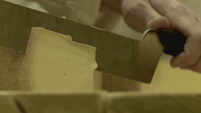 someone cuts chesse  - cheese stock videos & royalty-free footage