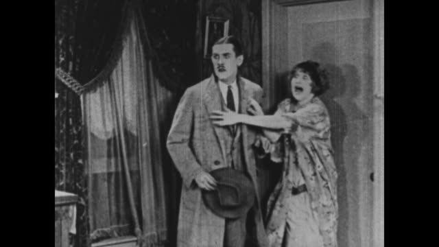 1925 Someone knocks on front door late at night, scaring an already anxious couple