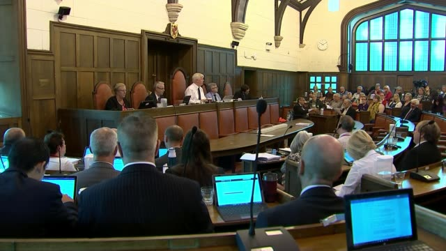 somerset councillors vote to slash spending uk somerset taunton protesters against spending cuts outside shire hall somerset county council meeting... - local government building stock videos & royalty-free footage