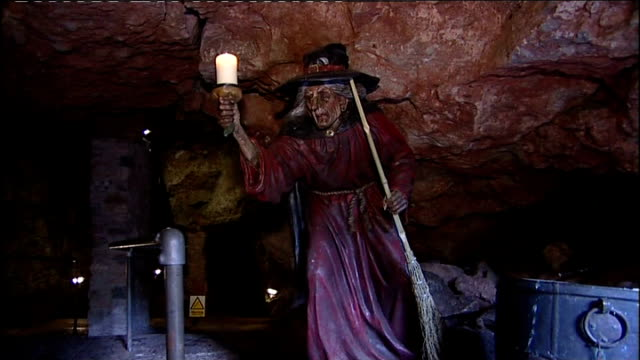 somerset wookey hole ext group of women cackling at auditions to find the next wookey hole cave witch sot women dressed as witches and cackling sot... - witch stock videos & royalty-free footage