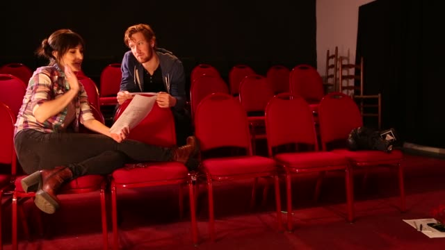 20 something actors rehearsing in theater - actor stock videos & royalty-free footage