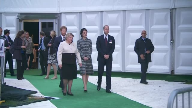 Somme Centenary Duke and Duchess of Cambridge and Prince Harry at Thiepval monument FRANCE Thiepval Memorial EXT **MUSIC Prince William Duke of...