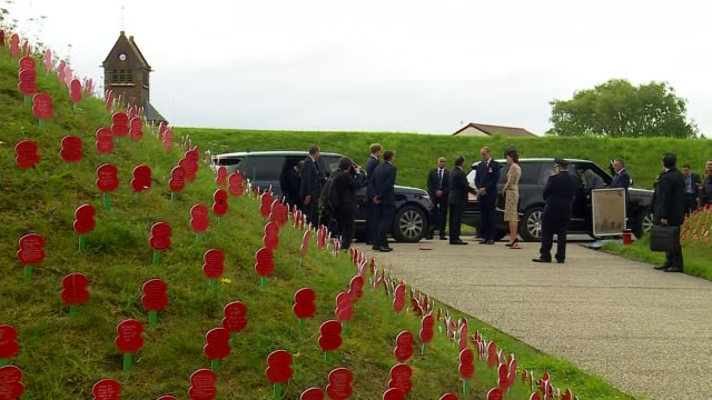Somme Centenary Duke and Duchess of Cambridge and Prince Harry open Thiepval Memorial FRANCE Thiepval Memorial to the Missing Visitors Centre EXT...