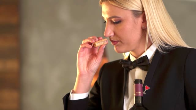 sommelier serving red wine in a restaurant - red grape stock videos & royalty-free footage