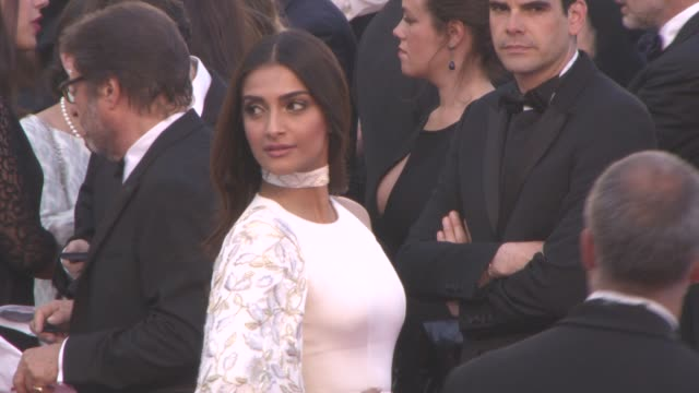 Sonam Kapoor at 'Mal de Pierres' Red Carpet at Grand Theatre Lumiere on May 15 2016 in Cannes France