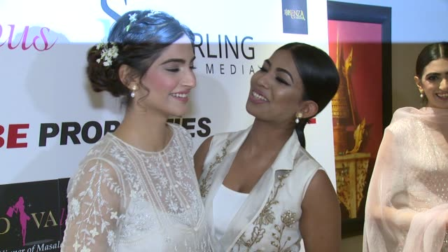 sonam kapoor attends divalicious on march 25 2017 in london england - bollywood stock videos and b-roll footage