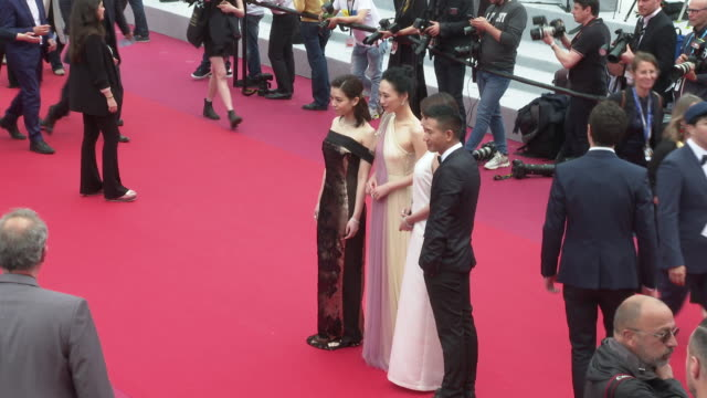 Song YuHua Wu Kexi Hsia Yu Chiao Midi Z at 'A Hidden Life' Press Conference The 72nd Cannes Film Festival at Palais des Festivals on May 19 2019 in...