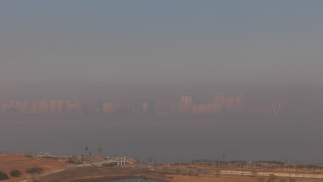 songdo international business district (songdo ibd) / yeonsu-gu, incheon, south korea - pollution stock videos & royalty-free footage