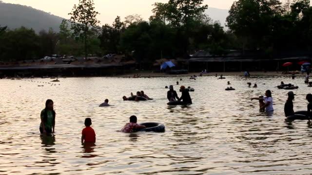 Songkran Festival at Tha Beautiful Lake in Chiangmai