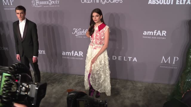 Sonia Ben Ammar at the 20th Annual amfAR Gala New York at Cipriani Wall Street on February 07 2018 in New York City