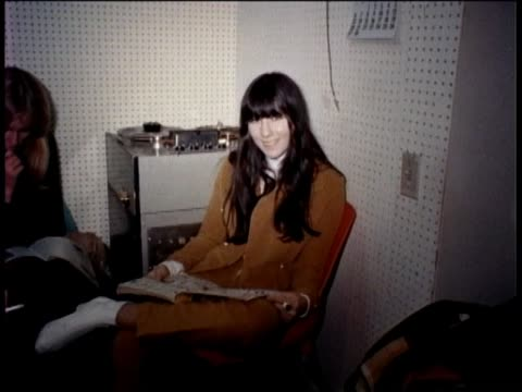 sonny and cher sing together inside recording studio in hollywood - recording studio stock videos & royalty-free footage
