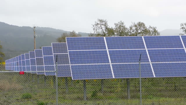 Sonoma Valley California solar panels to save electricity in winery near Kenwood