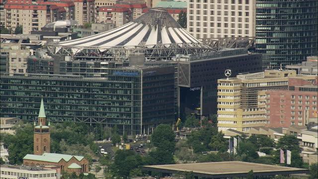 AERIAL Sony Centre, Potsdamer Platz, Berlin, Brandeburg, Germany