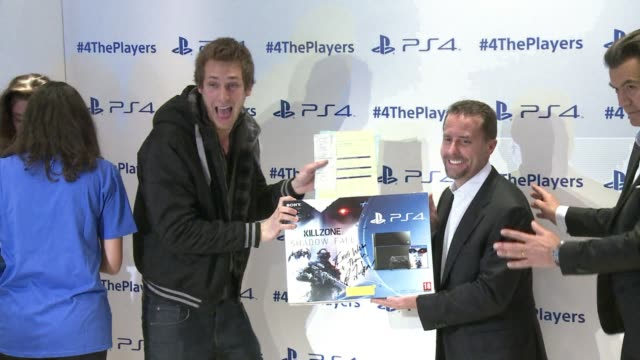 sony launches its playstation 4 console in several european countries including france after selling more than a million ps4s in the first 24 hours... - launch event stock videos & royalty-free footage