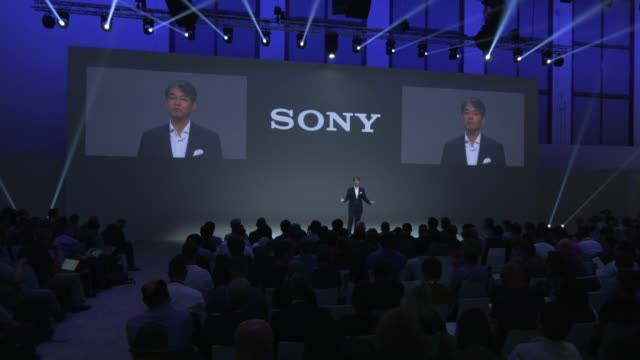 sony press conference at sony hall at the 2019 ifa home electronics and appliances trade fair on september 05 2019 in berlin germany the 2019 ifa... - 記者会見点の映像素材/bロール