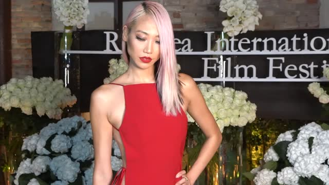 soo joo park attends the celebration of women in cinema gala hosted by the red sea film festival during the 78th venice international film festival... - red sea stock videos & royalty-free footage